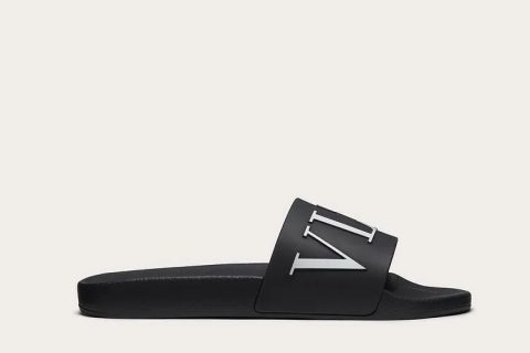 Valentino Garavani vltn heren slippers zwart/wit