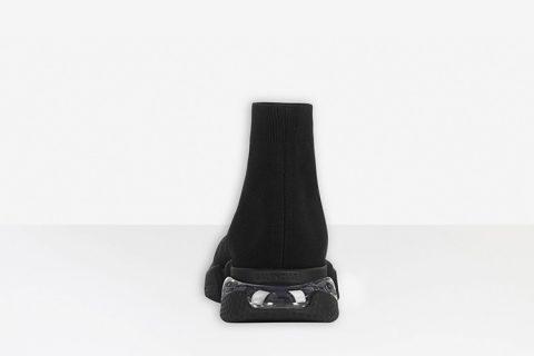 Balenciaga speed clear sole heren sneakers zwart
