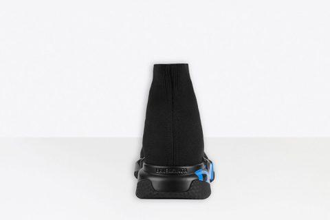 Balenciaga speed graffiti heren sneakers zwart/blauw