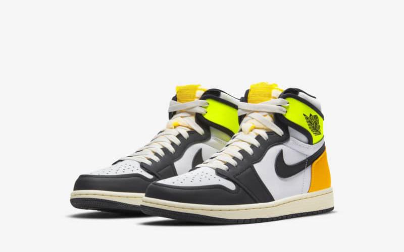 Nike air jordan 1 volt gold sneakers wit/geel