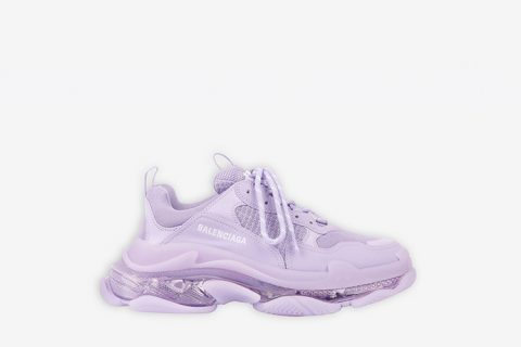 Balenciaga triple s clear sole dames sneakers lila