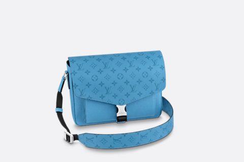 Louis Vuitton new messenger schoudertas denimblauw