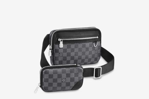 Louis Vuitton scott messenger schoudertas zwart/grijs