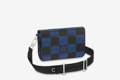 Louis Vuitton studio messenger schoudertas donkerblauw/zwart