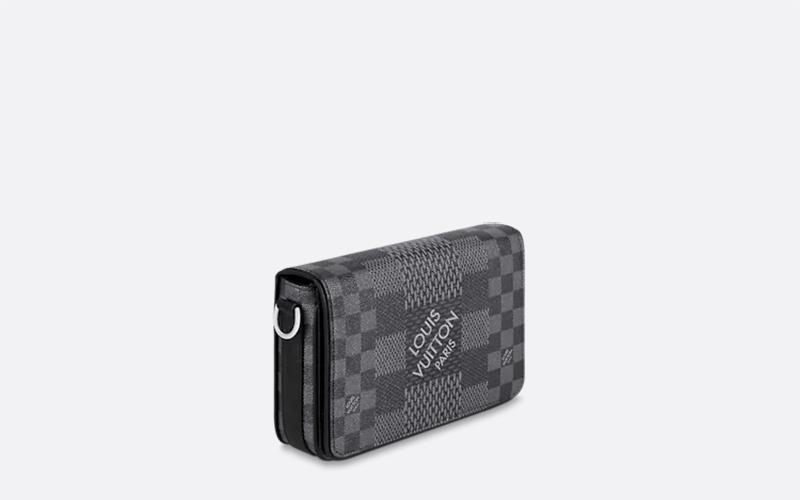Louis Vuitton studio messenger schoudertas donkergrijs/zwart