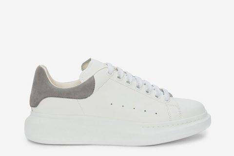 Alexander McQueen oversized heren sneakers wit/grijs