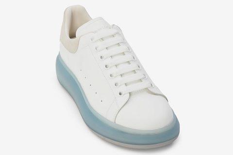 Alexander McQueen oversized heren sneakers wit/grijs - 03