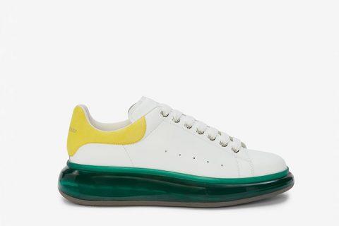 Alexander McQueen oversized heren sneakers wit/groen - 04
