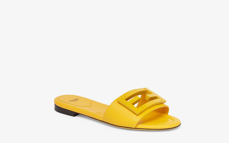Fendi signature dames slippers geel