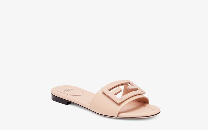 Fendi signature dames slippers lichtroze