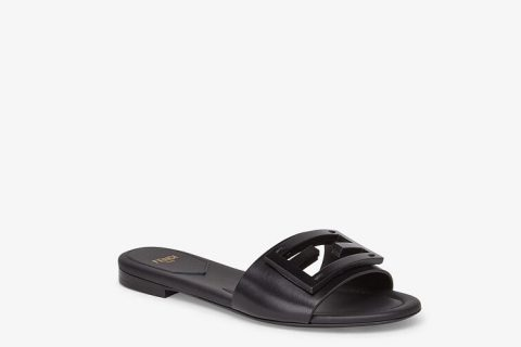 Fendi signature dames slippers zwart