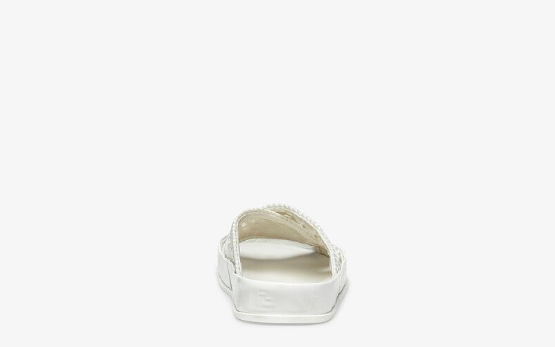 Fendi reflections dames slippers wit