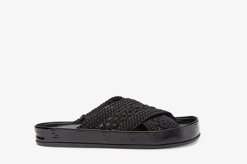 Fendi reflections dames slippers zwart
