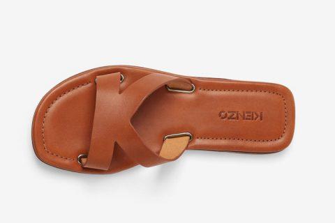 Kenzo paris opanka dames slippers bruin