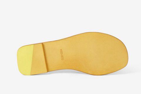Kenzo paris opanka dames slippers geel