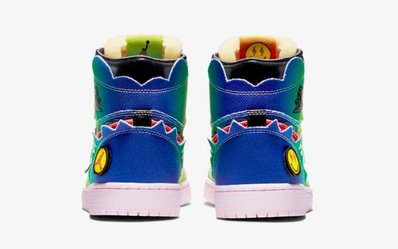 Nike air jordan 1 mid j.balvin sneakers multicolor