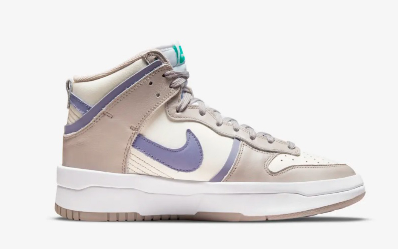 Nike dunk high up dames sneakers bruin/wit