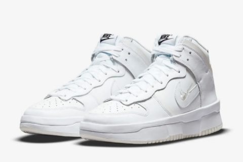 Nike dunk high up dames sneakers wit