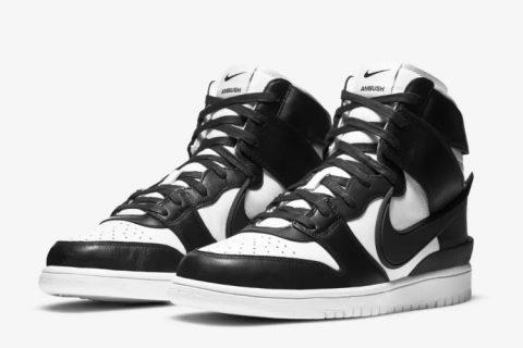 Nike dunk high x ambush sneakers zwart/wit